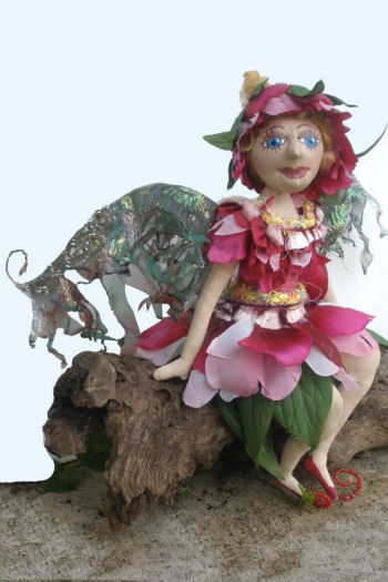 "Blossom, a 9"" Fairy Cloth   Doll Sewing Pattern"