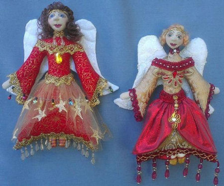ANGELI Di NATALE (Christmas Angels) Cloth   Doll Sewing Pattern