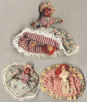 "Miniature Topsy-Turvy Folk Doll Kit - 2"" Tall"