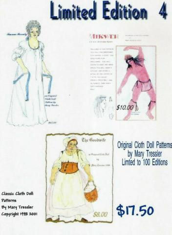 Buxom Beauty, The Goodwife and Mikweh. Cloth Doll Patterns