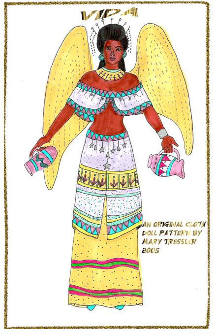 "Another 16"" ethnic angel with unique costuming."