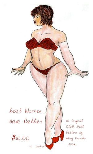 Real Women Have Bellies Cloth Doll Pattern