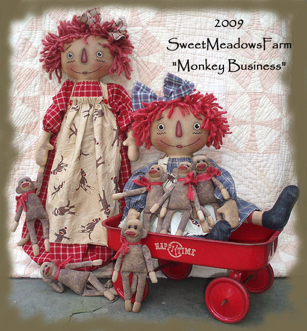 Cloth Doll Making Sewing Patterns By Maureen Mills Of Sweet Meadows Farm Simple Sweet Meadows Farm Patterns