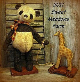 Panda and Giraffe Doll Making Pattern.  Sewing Project for Soft Animal