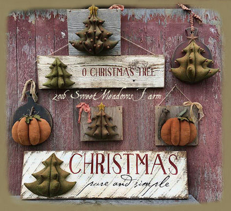 3D Primitive Fall and Christmas Hangers