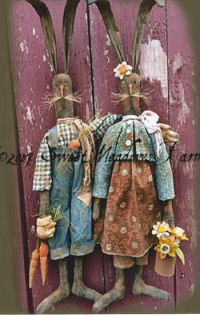 """The Ohares"" Primitive Rabbit Bunny dolls sewing patterns"