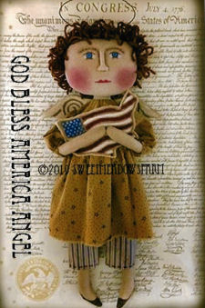 God Bless America - New Cloth Doll Angel Pattern