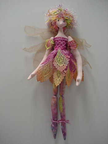 Ballerina Fairy Cloth Doll Pattern by Julie McCullough - Beginners Easy to Sew