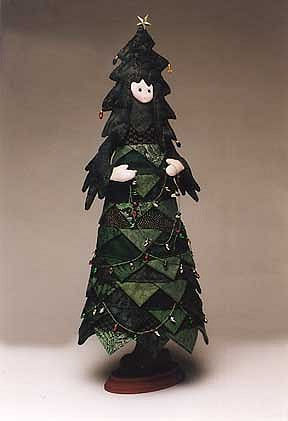 Oh Tannenbaum - Cloth Doll Pattern.  Sewing Fabric