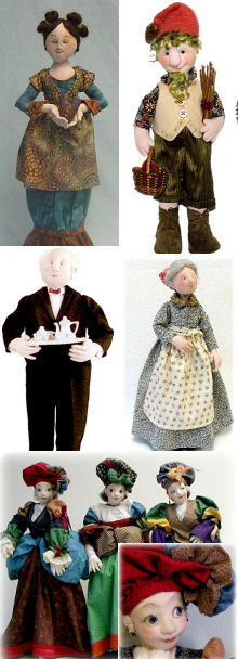 Designs by Leslie Molen - Cloth Doll Sewing patterns