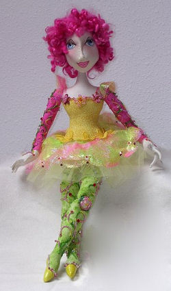 "The pattern for this gorgeous 19"" bead-jointed doll is packed with wonderful beading techniques and so much more."