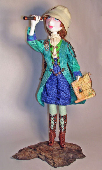 Tessa the Victorian Explorer Steampunk Cloth Doll Making Sewing Pattern