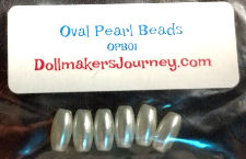 Oval Pearl Beads For Ratty's Teeth
