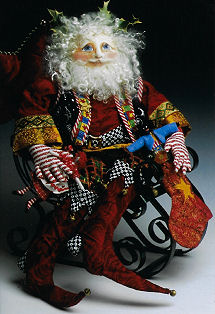 Very Merry Santa Cloth Doll Sewing Pattern