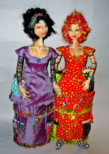 Penny Cassandra, A Sewing Caddie - Cloth Sewing Pattern for Dolls