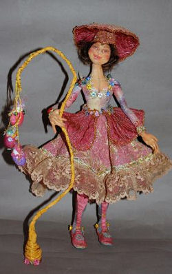 "This 14"" beauty has a simple wire armature to enable her to stand on her own."