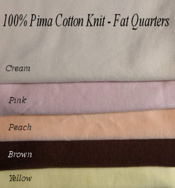 100% Pima Cotton Knit - Fat Quarters