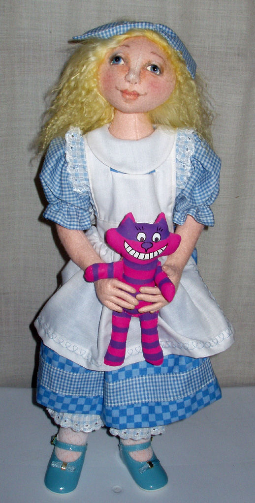 "24"" Jointed Cloth Doll - Pattern includes Cheshire Cat"
