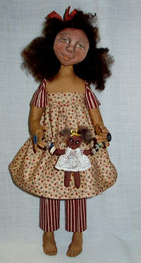 "Cloth Doll and Baby Doll Sewing Pattern.  15"" Button Jointed Doll"
