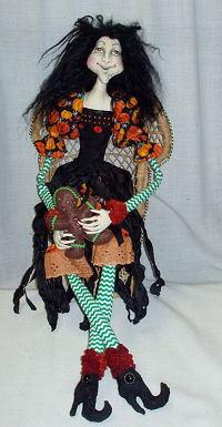 Gingerbread Witch  Doll Making Cloth Sewing Pattern