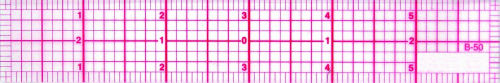 "6"" Ruler – 1/8th  Grid"
