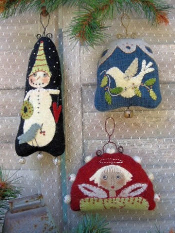 "4"" by 3"" Red Angel Ornament, 3"" by 4"" Dove Dome-Shaped Ornament, and 7"" Snow Guy Ornament."