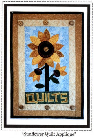 Sunflower Quilt Applique Wall Hanging Sewing Pattern