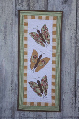 Quilted Applique Butterfly Wall Hanging Sewing Pattern