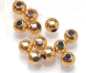 Round Gold Beads 4mm and 6mm