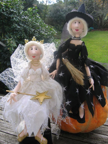 Wonderful Wise Witch, My Fairy Godmother Cloth Doll Pattern