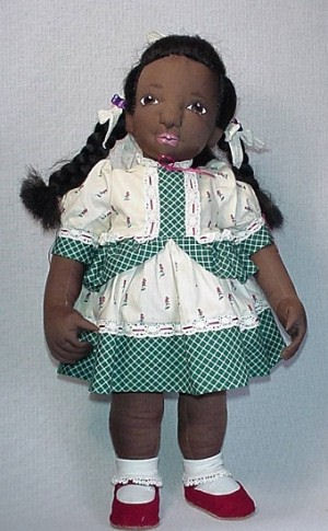 Little African American Girl Cloth Doll Pattern