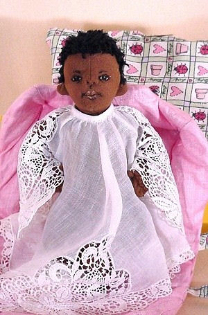 Baby Cloth Doll Pattern - African American, Ethnic