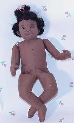Little Sugar Baby Doll African American Cloth Doll Pattern