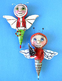 Christmas Bugs - Cloth Doll Sewing Patterns