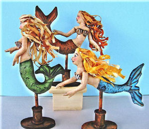 Mermaids on a Stick Sewing Pattern