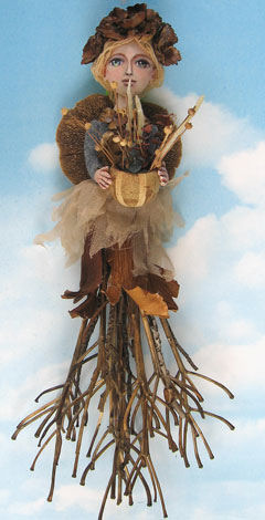 "beautiful 22"" wall doll will depend on the dried flowers"