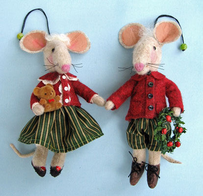Christmas mouse craft project. - Crafts - Free Craft Patterns