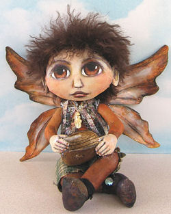 "charming 9"" painted cloth fairy"