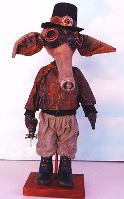 Steampunk Aardvark Cloth Doll Pattern