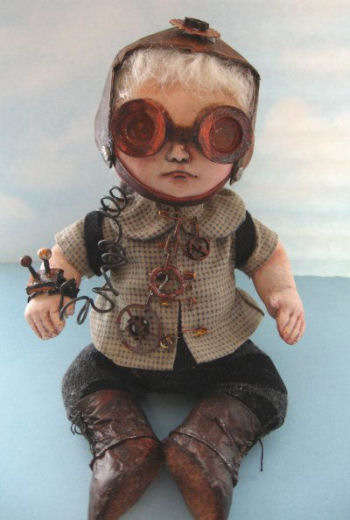 Steampunk Baby Cloth Doll Making Pattern