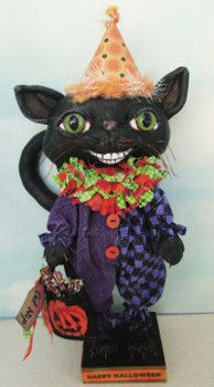 Halloween Cat  - Doll Making Pattern and Instructions