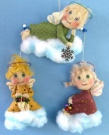 Little Angel Ornaments -  - Doll Making Pattern and Instructions