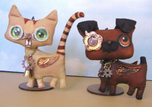 Cat & Dog Ornaments  - Doll Making Pattern and Instructions