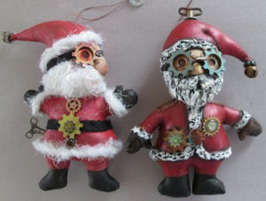 Santa Ornaments  - Doll Making Pattern and Instructions
