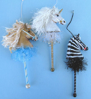 Horse Ornaments  - Doll Making Pattern and Instructions