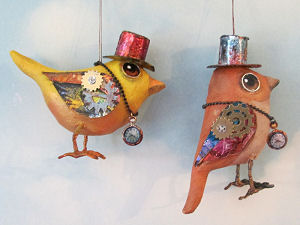 Steampunk Wrens  - Doll Making Pattern and Instructions