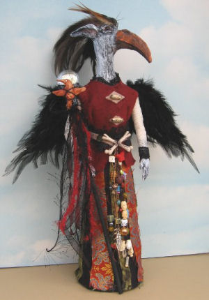 Bone Bird  - Doll Making Pattern and Instructions