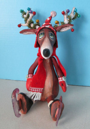 Skating Reindeer  - Doll Making Pattern and Instructions