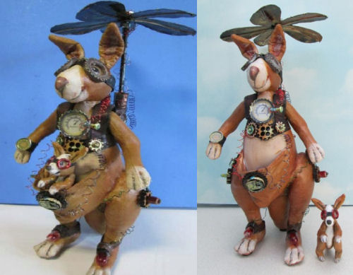 Steampunk Kangaroo CD - Dollmaking Class by Susan Barmore