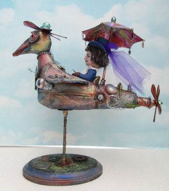 Rachel's Flying Machine  Doll -  PDF Class on CD by Susan Barmore - Steampunk
